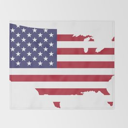United States Throw Blanket