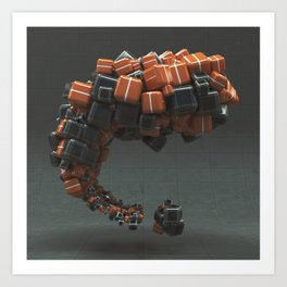 20160223 | NOTHING BUT CUBES Art Print