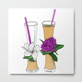 Tropical fruit shakes Metal Print