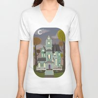 house V-neck T-shirts featuring House by Fran Court