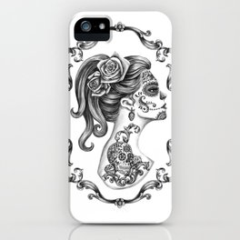 Sugar Skull Girl Cameo iPhone Case
