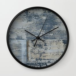 Warehouse District -- Vintage Industrial Farm Chic Abstract Wall Clock
