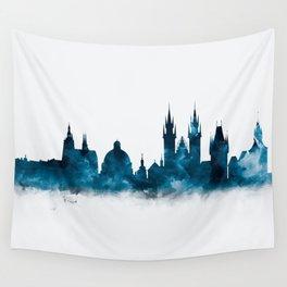 Prague Skyline Wall Tapestry