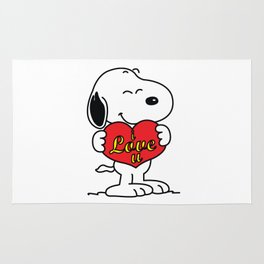 love you snoopy Rug