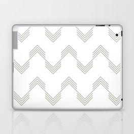 Simply Deconstructed Chevron Retro Gray on White Laptop & iPad Skin