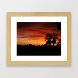 Orange Hollywood Framed Art Print