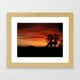Orange Hollywood Framed Art Print