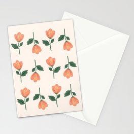 Pink Peony Pattern Stationery Cards