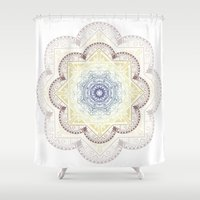henna Shower Curtains featuring Mandala Henna by Liz Slome
