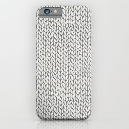 Hand Knit Grey iPhone Case
