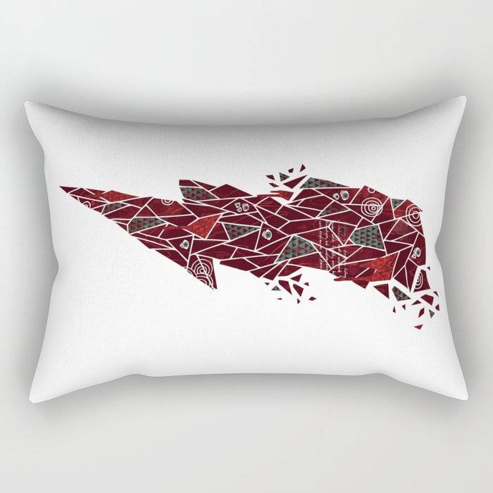 Crimson Matter Rectangular Pillow