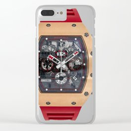 Richard Mille RM011 Red Demon Titanium & 18K Rose Gold 50MM Clear iPhone Case