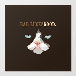 Grumpy Bad Luck Cat Canvas Print
