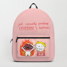Pushing buttons Backpack