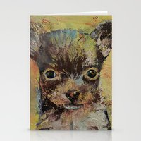 chihuahua Stationery Cards featuring Chihuahua by Michael Creese
