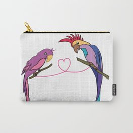 Two Parrots in Love Carry-All Pouch