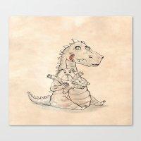 dragon Canvas Prints featuring Dragon  by gunberk