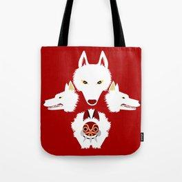 Mononoke and the wolves Tote Bag