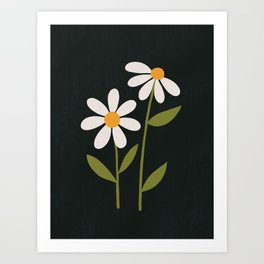 Daisy - Flower Illustration Art Print
