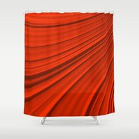 renaissance Shower Curtains featuring Renaissance Red by Charma Rose