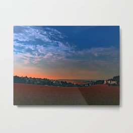Small rural town skyline at sunrise II | landscape photography Metal Print