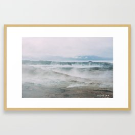 fumaroles field Framed Art Print