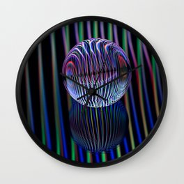Eyes in the glass ball Wall Clock
