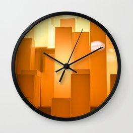 Shades of Orange #2 - Photography Art Wall Clock