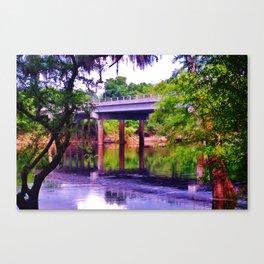 Shuwannee River Brandford bridge Canvas Print