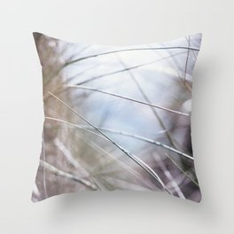 Sand Dune Grasses Perranporth Throw Pillow