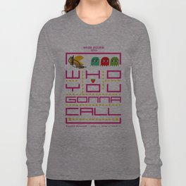 pacman ghostbuster Long Sleeve T-shirt