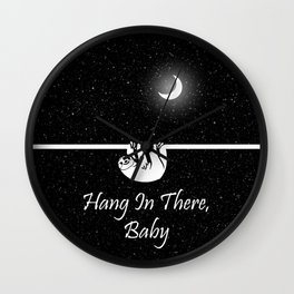 Hang In There, Baby Wall Clock
