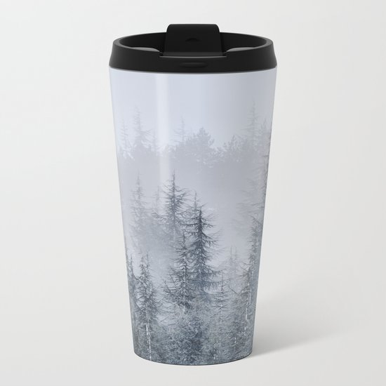 Early moorning... Into the woods Metal Travel Mug