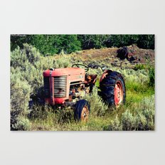Wanna Take A Ride On My Tractor? Canvas Print