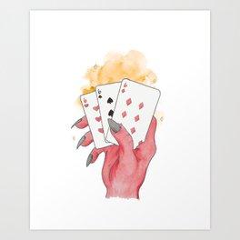 Lucky Hand Art Print