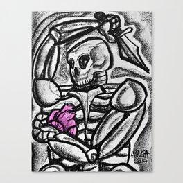 Heart & Dagger Canvas Print