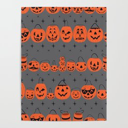 Trick or Treat Smell My Feet- Grey Poster
