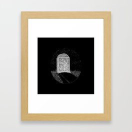 Bury Me at Makeout Creek Framed Art Print