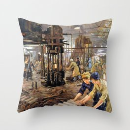 The Munitions Girls - Stanhope Alexander Forbes Throw Pillow