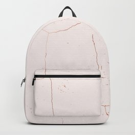 Marble rose gold Backpack