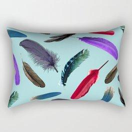 Duck Egg Blue Feather Home Decoration Friends Gift Light Blue Art Poster Rectangular Pillow