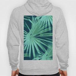 Aqua on Teal Tropical Vibes Beach Palmtree Vector Hoody