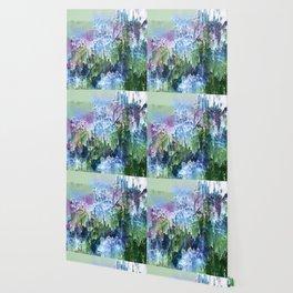 Wild Nature Glitch - Blue, Green, Ultra Violet #nature #homedecor Wallpaper