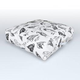 Manx Fauna - (British) Birds Outdoor Floor Cushion