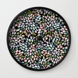Dahlia Large Bold Chic Floral Black Geometric Design Wall Clock