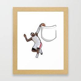King James dunking in a pocket Framed Art Print