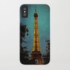 L'Eiffel - Eiffel Tower at Night iPhone X Slim Case