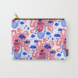 Octopus Thought Bubbles and Beards Carry-All Pouch