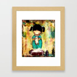 Bath for Dirty Kitty Framed Art Print