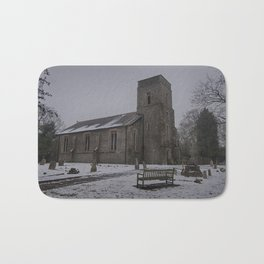 Dunkirk Church In Winter Bath Mat